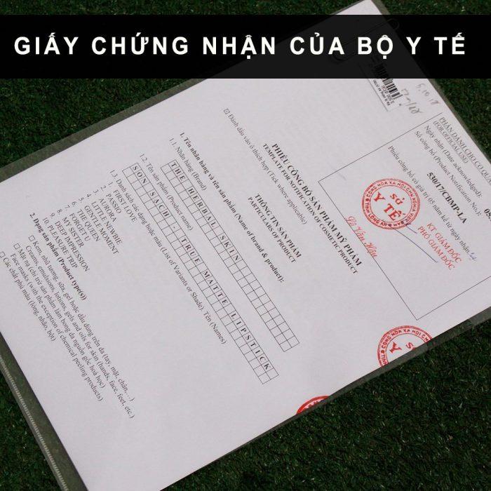 Son sạch – son không chì GUO đạt giấy chứng nhận của Bộ Y Tế Việt Nam