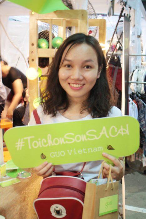 Chị Hiền và GUO tại Hội Chợ THE BOX