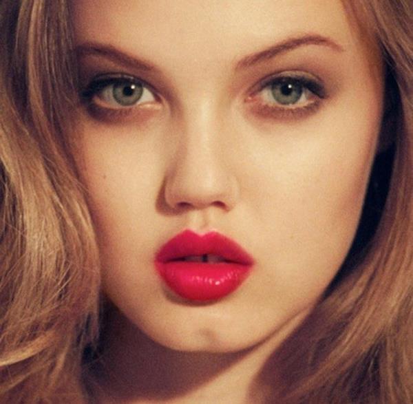 mẹo makeup hay cho dáng môi tròn