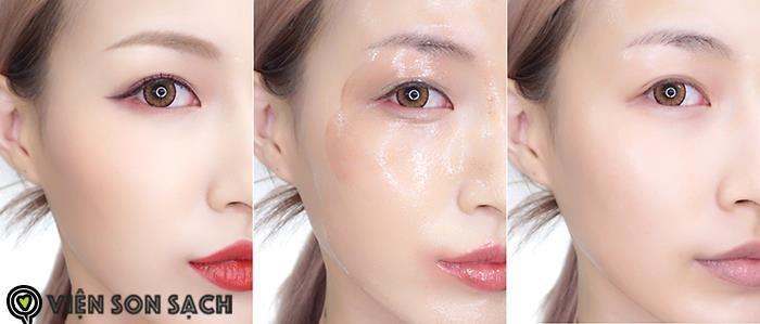 tẩy trang mắt môi của GUO