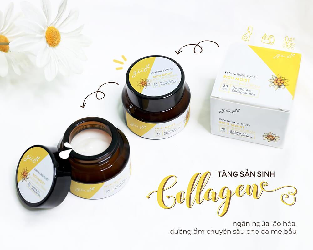 Kem Nhung Tuyết tăng cường sản sinh collagen ngừa lão hóa cho Mẹ bầu