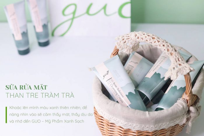 Sữa rửa mặt Than Tre Tràm Trà GUO làm sạch dịu nhẹ cho làn da Nàng bầu