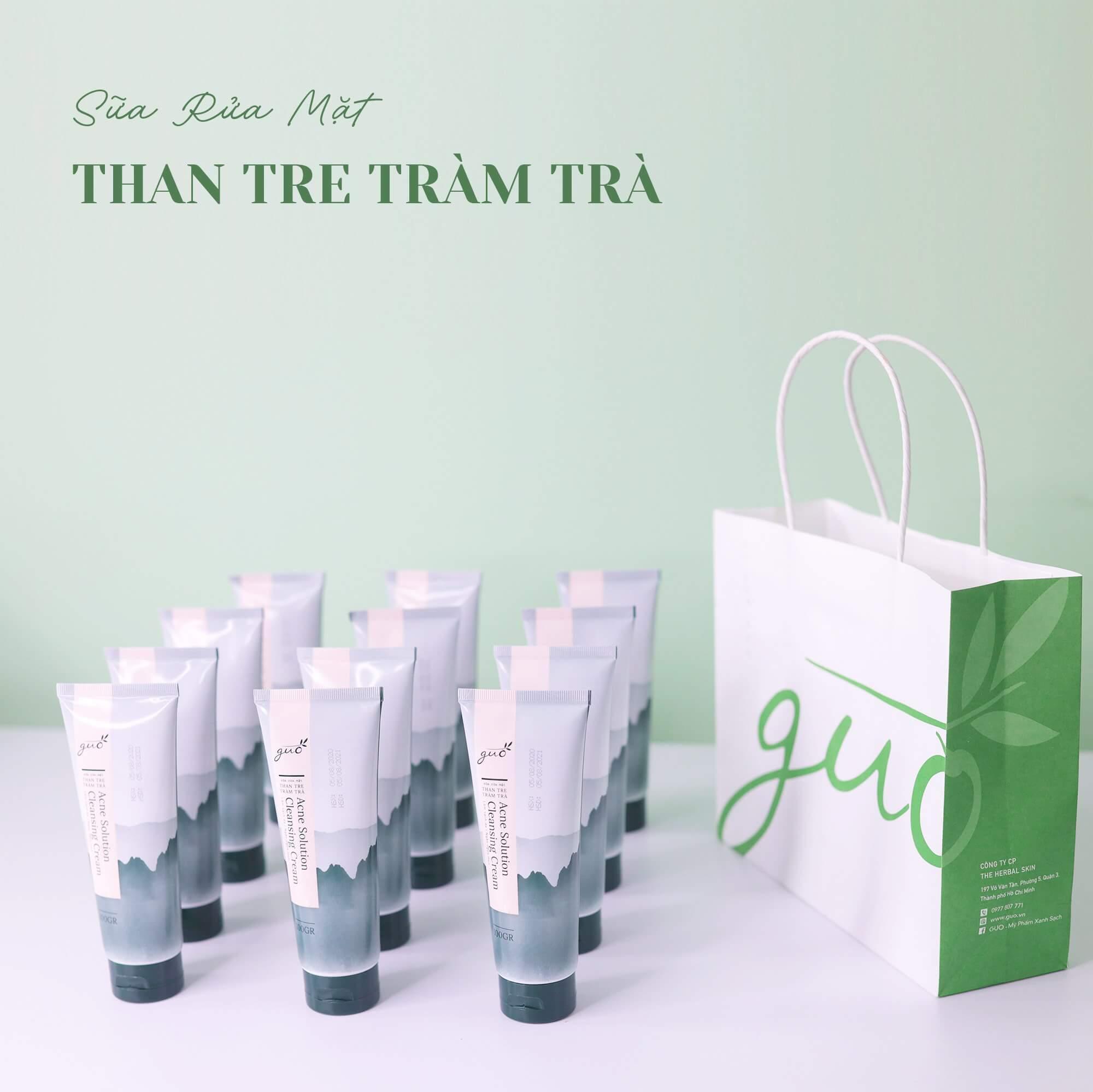 Sữa rửa mặt Than Tre Tràm Trà GUO giúp thải độc cho da